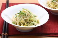 韓國風豆芽菜與小黃瓜小菜