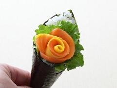 可传递情感的手卷寿司(三文鱼花束)