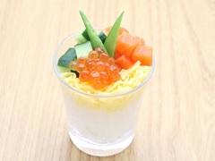 骰块三文鱼寿司杯