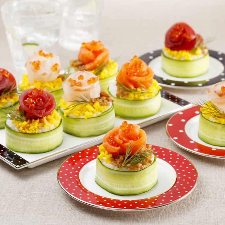 脆皮黃瓜卷花壽司蛋糕