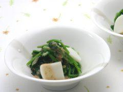 魚板與菠菜拌芝麻