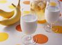 香蕉加鮮奶飲料