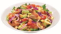 香煎雞肉混切蔬菜沙拉