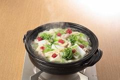 花團錦簇的柴魚風味烤飛魚鍋