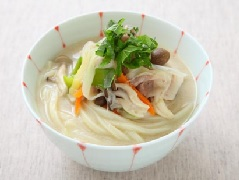 Onion Leeks Sesame and Soymilk Udon
