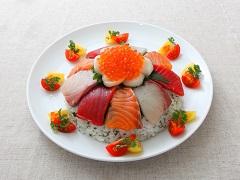 簡易七彩海鮮壽司蛋糕
