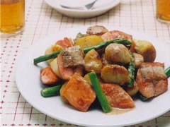 Sauteed salmon with potatoes