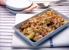 馬鈴薯的芝麻起司燒