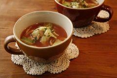 高麗菜與香菇番茄醋湯